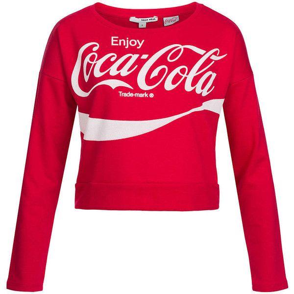Tally Weijl Damen Short Sweater Coca Cola Beflockung Bauchfrei weiter ...