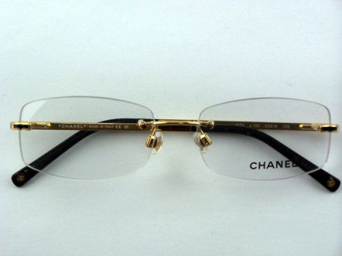 Rimless Chanel Glasses : 17 Best images about Rimless Womens Eyeglasses, Gold ...