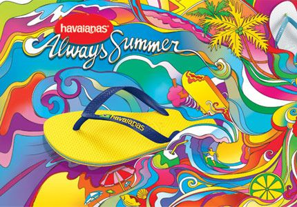 Havaianas one of the simplest and most stylish way to feel your greatest. If you don't have a pair its time to get some.