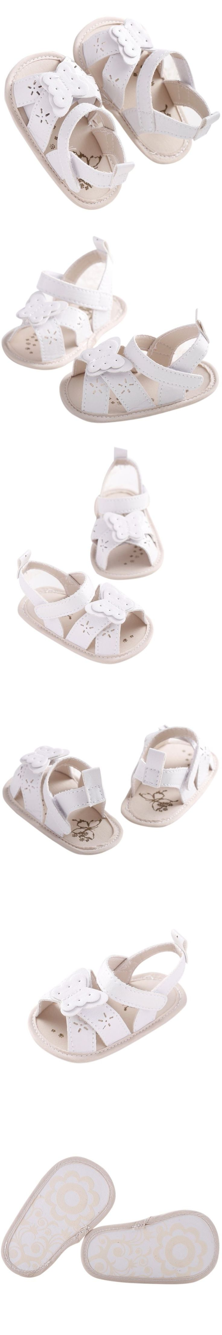2017 Newest Fashion Summer Cute Baby Girls Cute Butterfly Solid Color Sandals Toddlers Kids Toddler Infant Girls Shoes