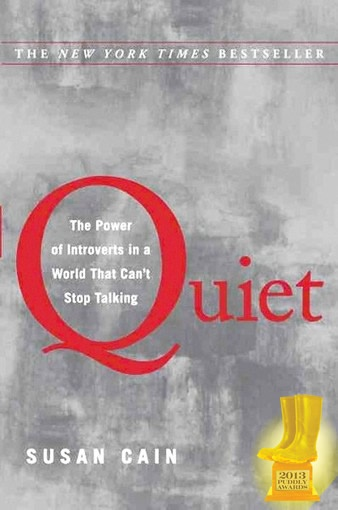 "Quiet by Susan Cain -- Customer Comment from gogi: ""An important book, much more than a 'psychology text.; Quiet is not only an interesting read, it's on a topic that is (like introverts themselves) often overlooked, underestimated and/or misunderstood."""