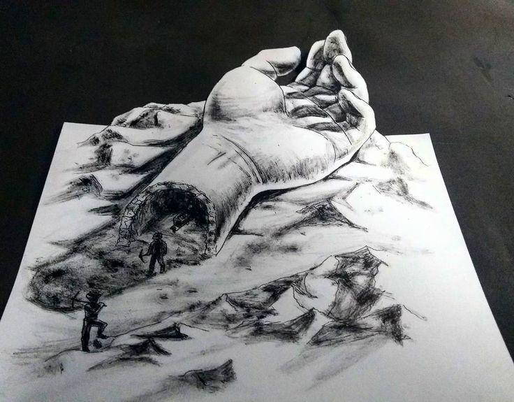 Ruínas de ilusão    Inktober - dia 27 (atrasado, espero que tenha valido a pena)    #inktober2017 #ink #inktober #inkoktober #inktoberday27 #draw #illustration #drawing #art #avenda #desenhoavenda #arteavenda #nankin #nanquim #3ddrawing #3d #blackandwhitedrawing #3ddrawingart #illusion #hand #tunnel #cave #caverna #tunel