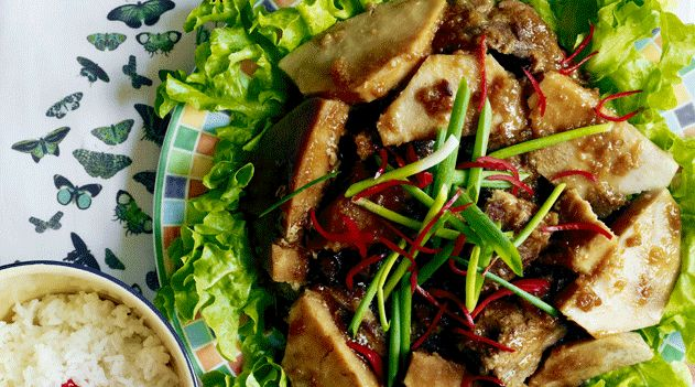 Steamed five-spice pork with taro  recipe (fen zheng rou)