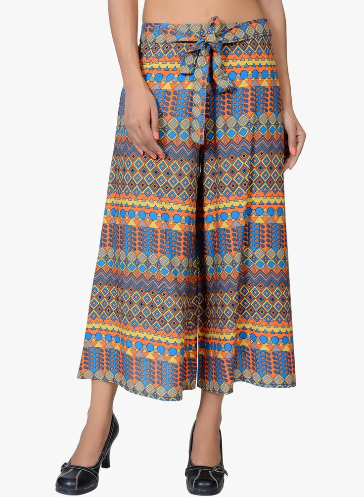 Brighten your day with a contemporary ethnic print Palazzo! :D SHOP HERE--> http://www.jabongworld.com/multi-colored-printed-palazzo-2214507.html