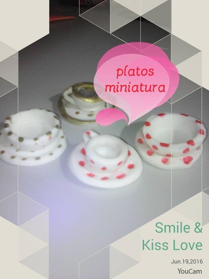 platos miniatura - miniature dishes