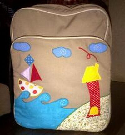 sea view handmade backpack