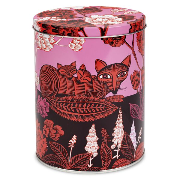 tin (large), fox and cubs | Galerie CO