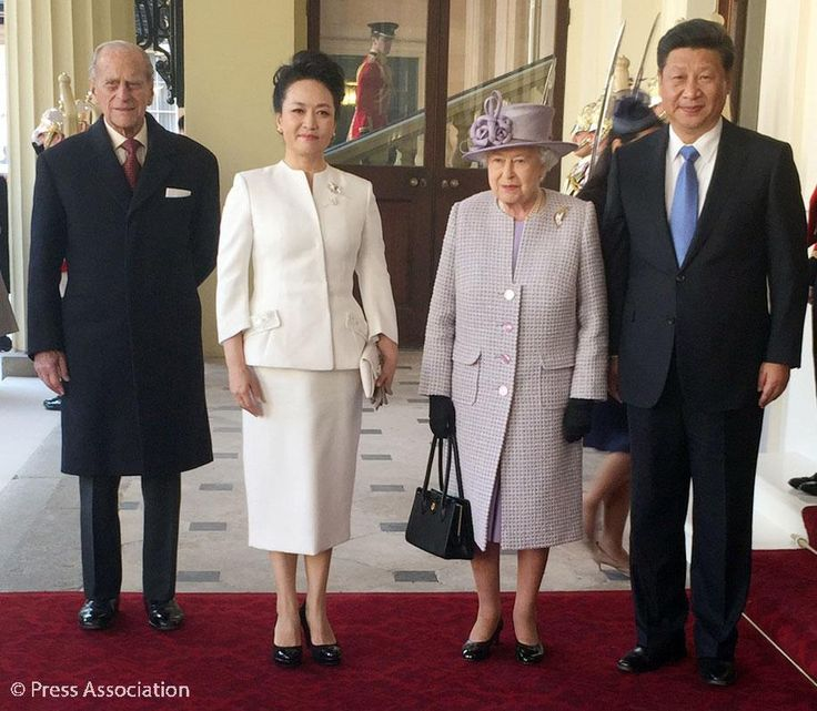 The Queen and The Duke welcome The President and Madame Peng Liyuan to Buckingham Palace ChinaStateVisit 20/10/15
