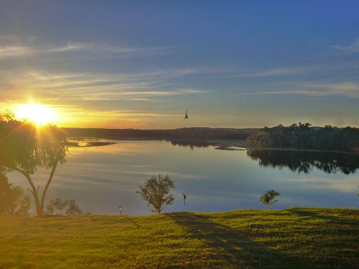 crystalbrooks lodge at dawn - australia outback