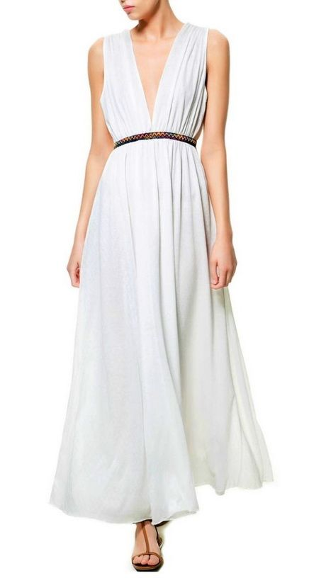 c702f8ba22 White grecian maxi dress