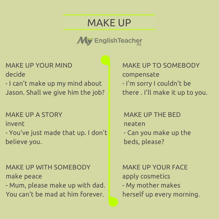 English Phrasal Verb - Make up.