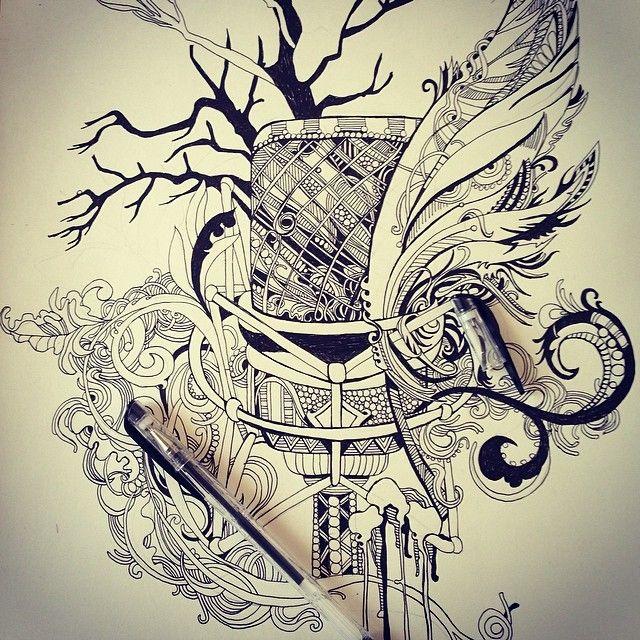Продолжаем тему творческих профессий!))))..#voice #music #microphone #ink #art #sketch #love #singer #pen #tattoo #style #pen