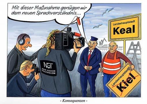 Denglisch-Karikatur von Friedrich Retkowski | Languages ...