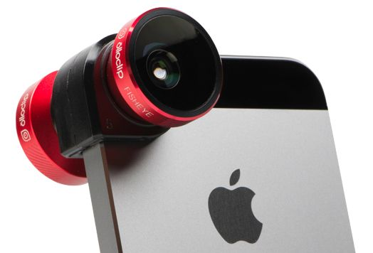The olloclip 4-IN-1 is a quick-connect lens solution for the iPhone that includes Fisheye, Wide-Angle and 2 Macro lenses in one small, convenient package that easily fits in your pocket – and the palm of your hand. It connects to the iPhone within seconds so you'll be sure to capture the image you want. If you don't see the picture you're looking for, just flip it over to switch lenses.