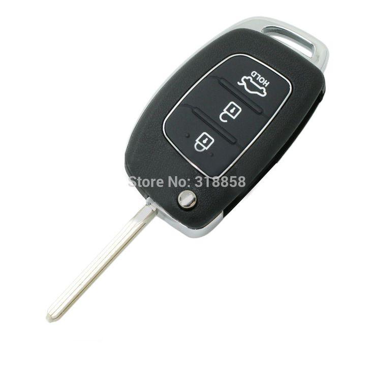 Замена 3 Кнопка Складывания Флип Remote Key Shell Case Fob С Uncut Бланк Нож Для HYUNDAI ix45 Санта-Фе