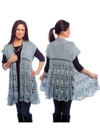 Pineapple Swing Cardigan Crochet Pattern