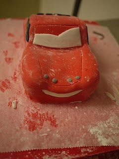 Amazing detailed step by step lighting mcqueen cake
