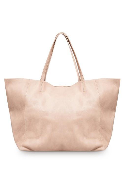 Mango  Leather Shopper Tote Bag - Wantering
