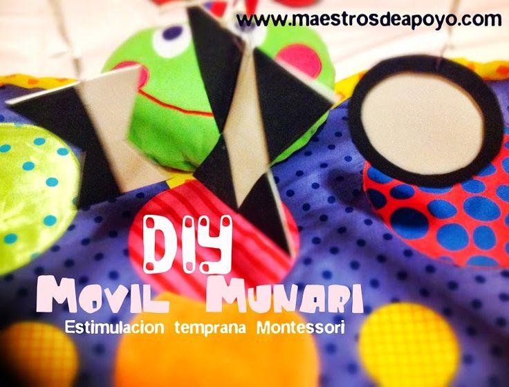 Montessori DIY: Móvil Munari para recién nacidos (fácil y económico)