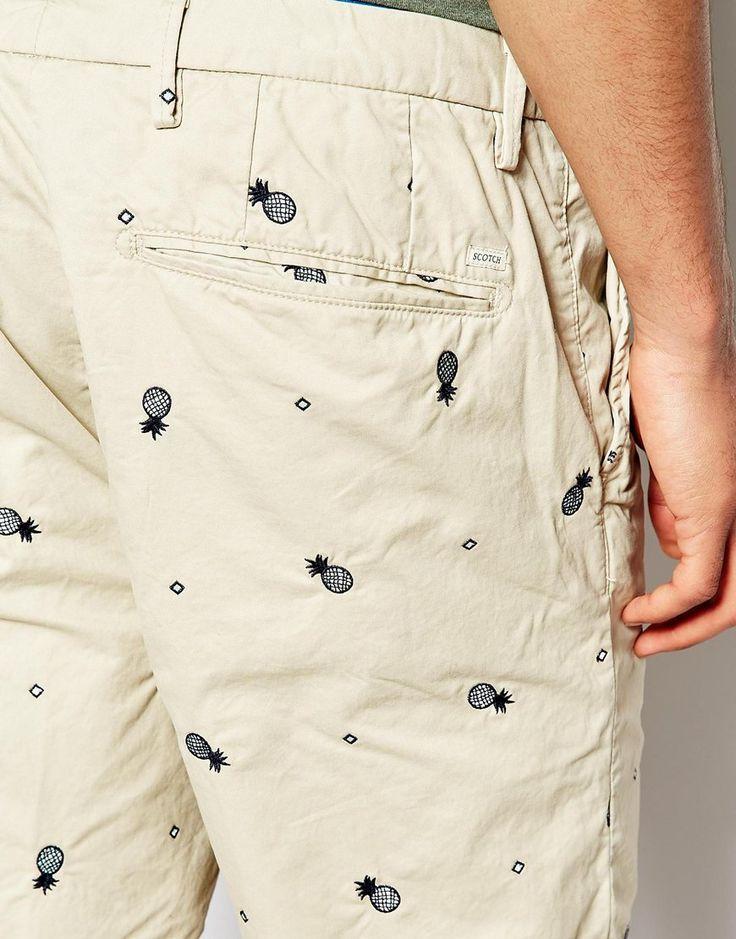 Imagen 3 de Pantalones cortos chinos con bordado de Scotch & Soda