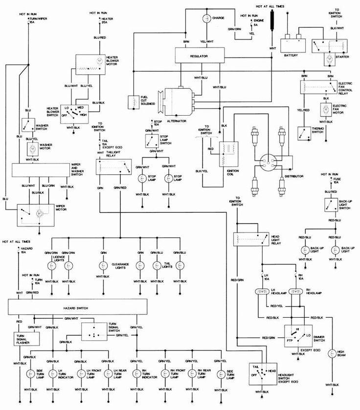 1991 nissan 240sx wiring diagram in 2020 | Schaltplan ...
