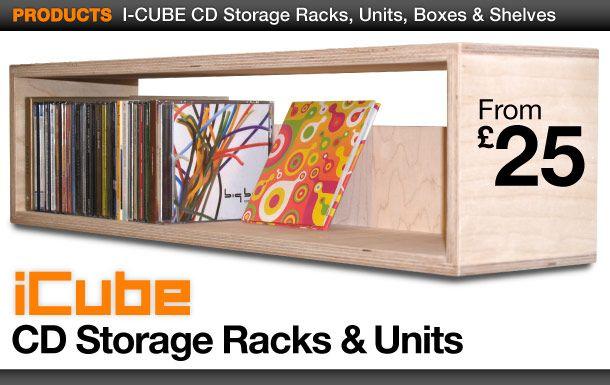 CD Storage Racks, Modular CD Units, Boxes & CD Storage Furniture