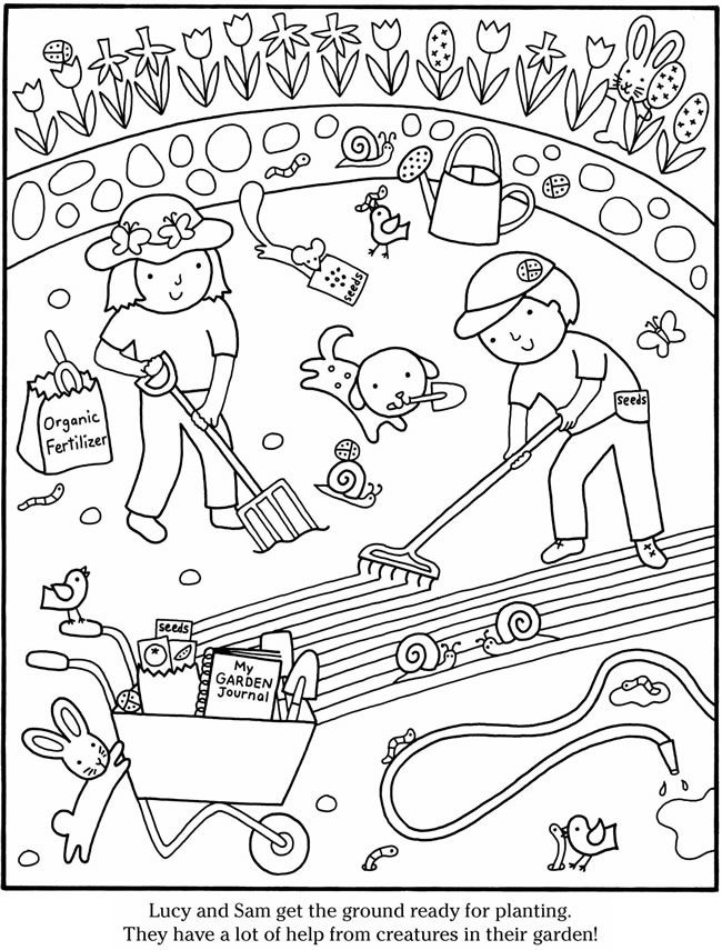 Color & Garden VEGETABLES coloring pages