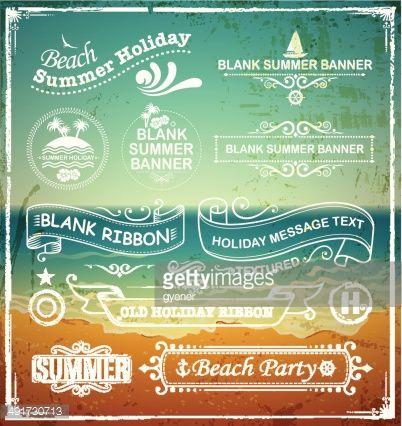 Vector Art : summer labels