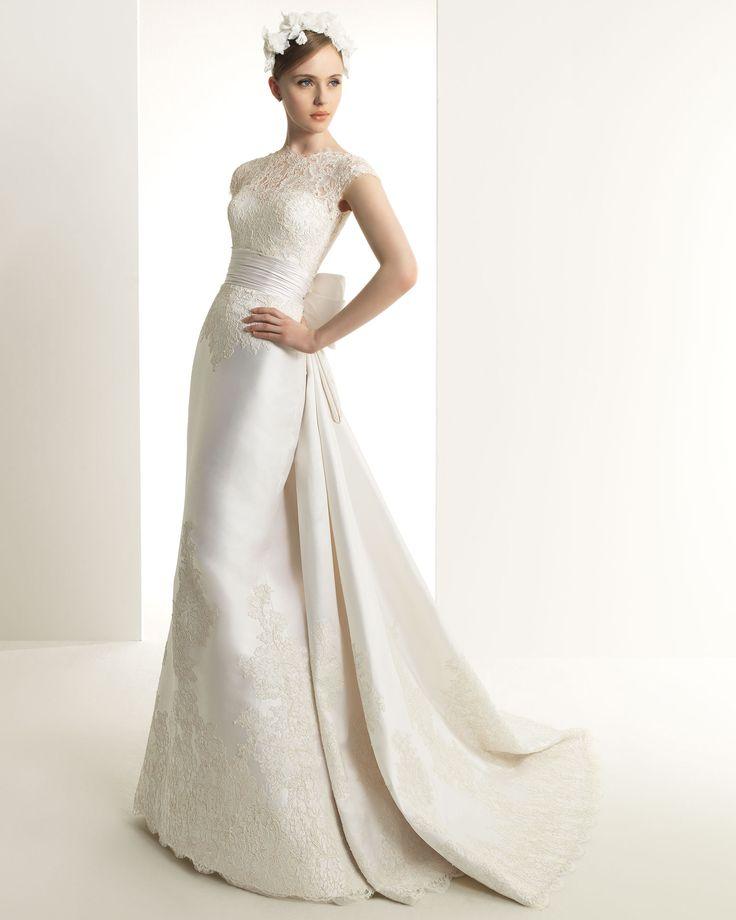 ウェディングドレス マーメイド ボートネック サテン レース 結婚式 ウェディング h3zm0037 価格 ¥58,860