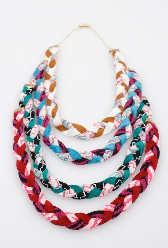 candy multi pop fabric necklace