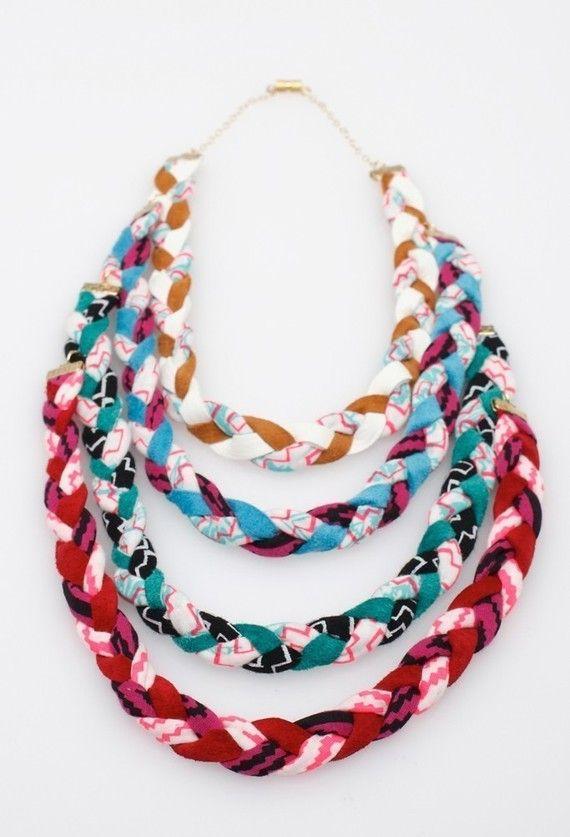 candy multi pop fabric necklace