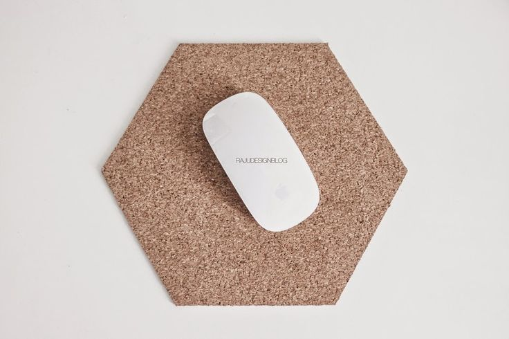 DIY cork mousepad by rajudesignblog.blogspot.com