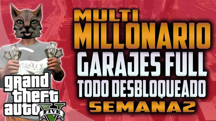 MULTIMILLONARIO EN GTA 5!! GARAJES LLENOS, DINERO INFINITO Y TODO DESBLO...