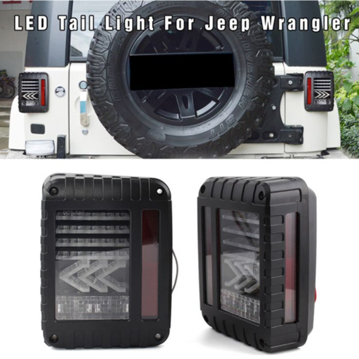 ==> [Free Shipping] Buy Best LED Arrow Design Tail Lights with Red LED Brake Tail Lights Assembly Amber Turn Signal Reverse Lights For Jeep Wrangler JK JKU Online with LOWEST Price | 32818280800