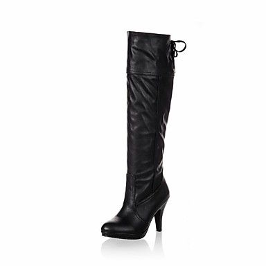 Women's Shoes Round Toe Chunky Heel Knee High Boots More Colors available – USD $ 34.99
