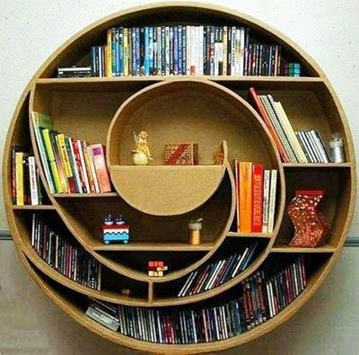 Unique and Modern Round Bookshelves with Multipurpose Cabinet Design Ideas