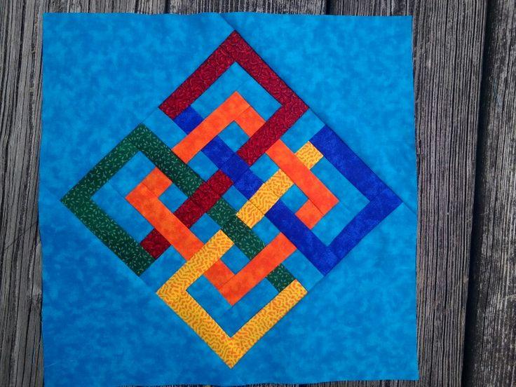 Four Seasons Interlocking Squares Block Quilt Patterns