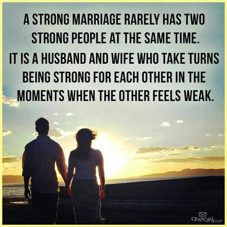 Strong Marrages, When One Is Weak The Other Is Strong