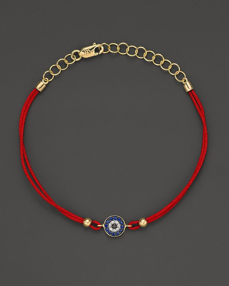 Meira T Diamond, Blue Sapphire And 14K Yellow Gold Evil Eye Bracelet - Fine Jewelry - Bloomingdale's