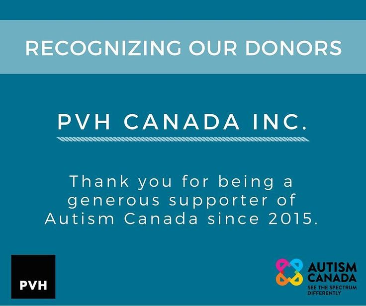 #ThankfulThursday Since 2015 @wearepvh has donated over $30000 to support our national charitable initiatives for individuals on the spectrum and their families.  To make a corporate donation please visit: http://ift.tt/2i5WcN7