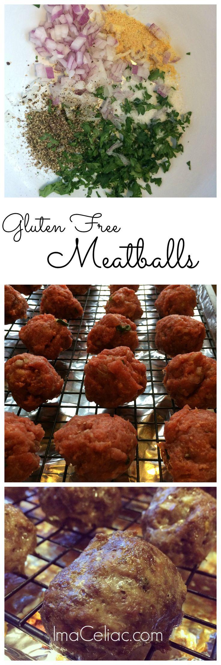 Easy Gluten Free Meatballs   iamaceliac.com
