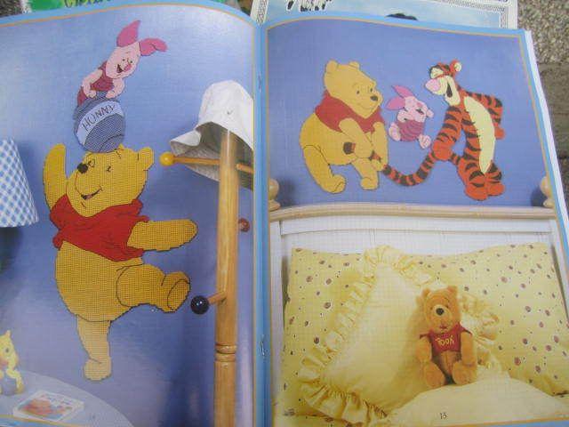 SeeSallySew.com - Winnie the Pooh Wall Decor Plastic Canvas Leisure Arts