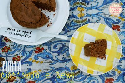 biscottirosaetralala chocolate & seeds cake