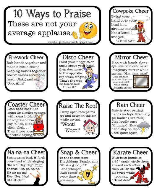 3rd Grade Thoughts: Whole Brain Teaching: 10-Finger Woo! Alternatives 3rdgradethoughts.com