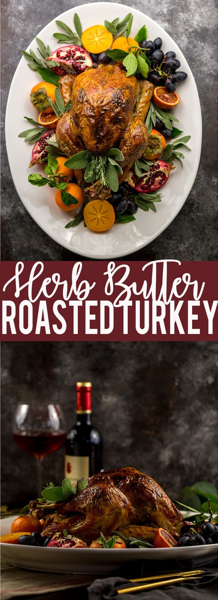 Easy Herb Butter Roasted Turkey | Thanksgiving Turkey Recipe | Turkey Seasoning | Oven Roasted Turkey | Low Carb Thanksgiving Turkey Recipe | Juicy Turkey Recipe | Turkey recipe using cheesecloth #turkey #thanksgiving #Thanksgivingturkey #ThanksgivingRecipes