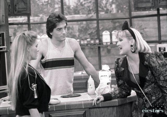 Scott Baio, Nicole Eggert and Holly Fields in Charles in Charge