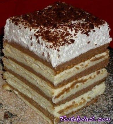 Keks torta sa kremom od pudinga