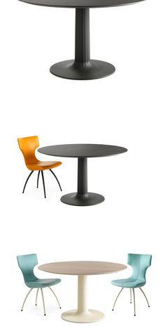 Dining Table Columna by Leolux. A leg and a table leaf connected by a straight column: Columna is that pure.