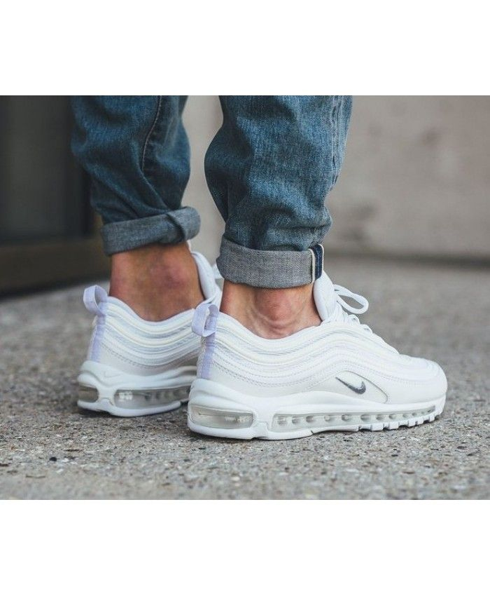 Nike Air Max 97 OG White Wolf Grey Trainers | Cheap nike air