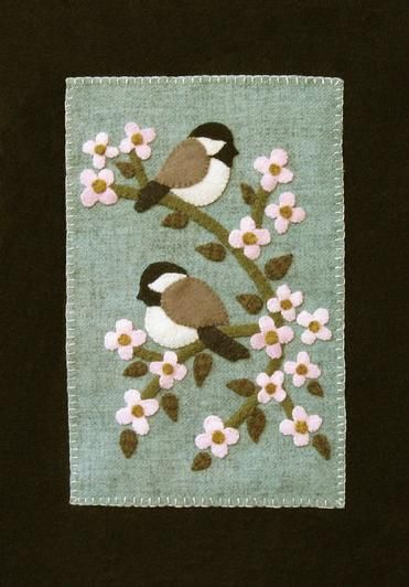 Sweet birds on a branch, make this for Aimees room over top of the other print on wall now)